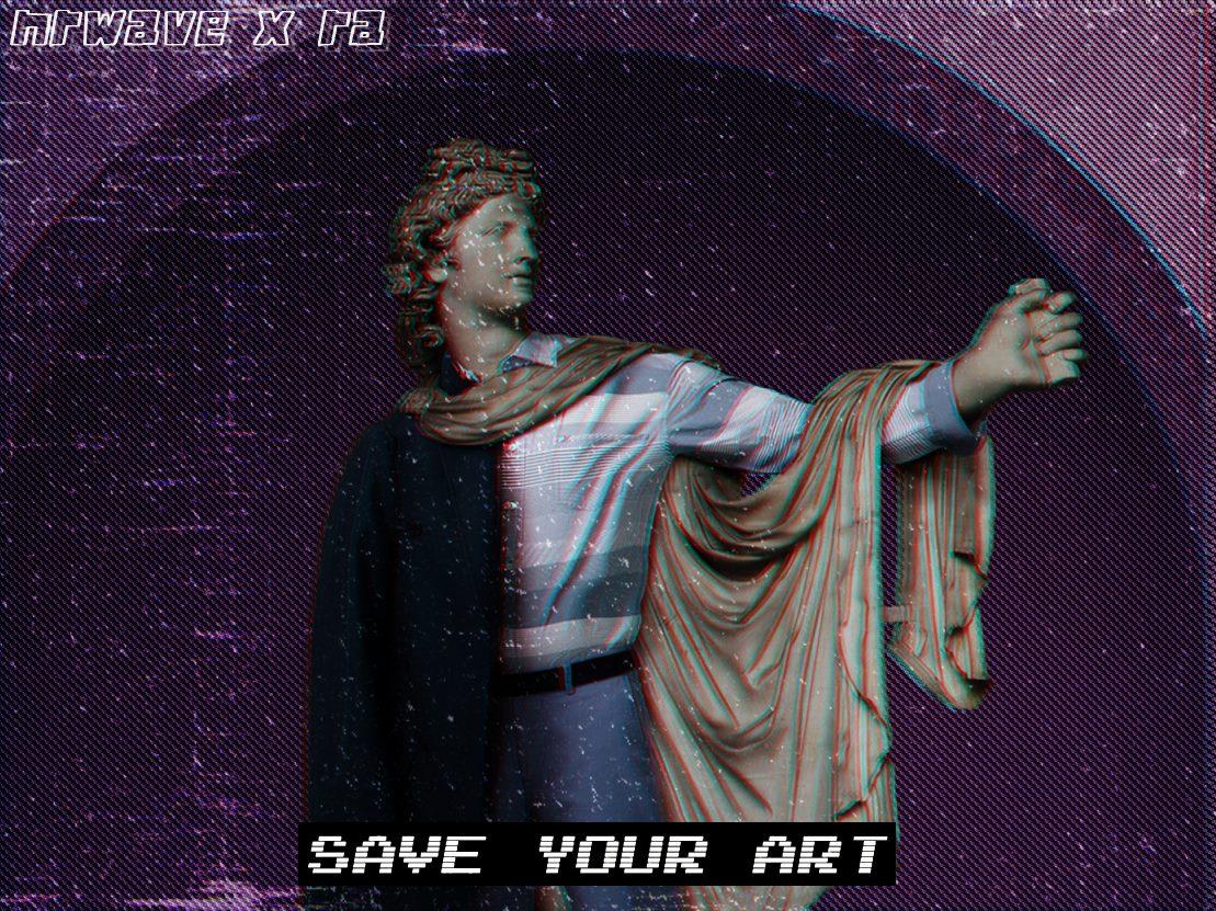 sztuka, rzeźba, fashwave